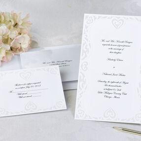 Luxe Hearts Wedding Invitation Kit