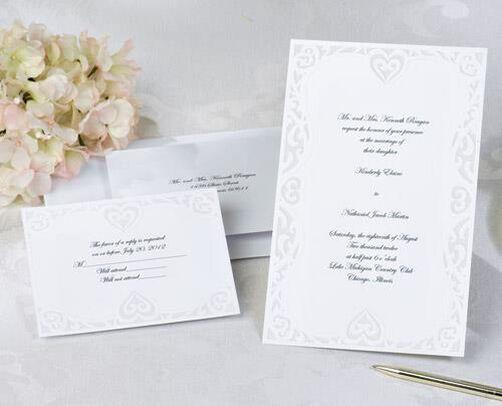 luxe hearts wedding invitation kit | wilton, Wedding invitations