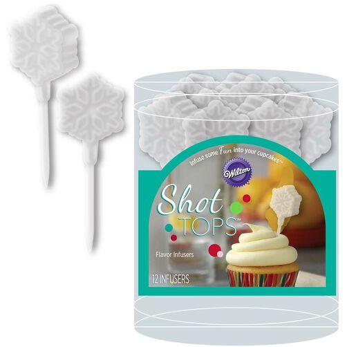 Snowflake Shot Tops Flavor Infusers & Cupcake Liners