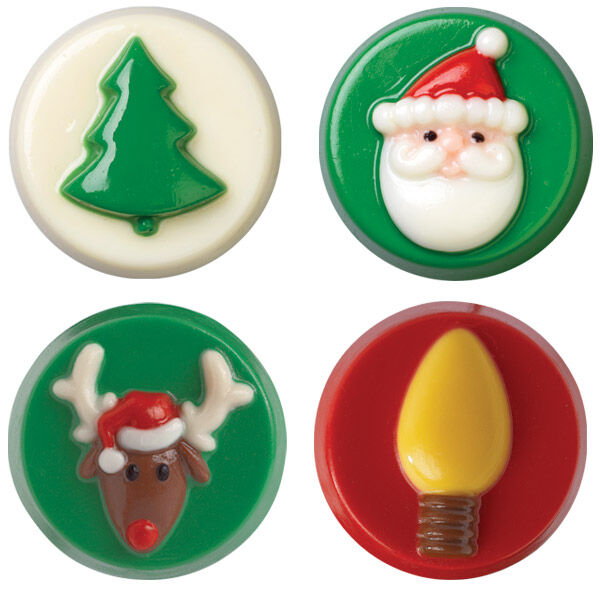 Christmas Cookie Candy Molds 2 Pack | Wilton