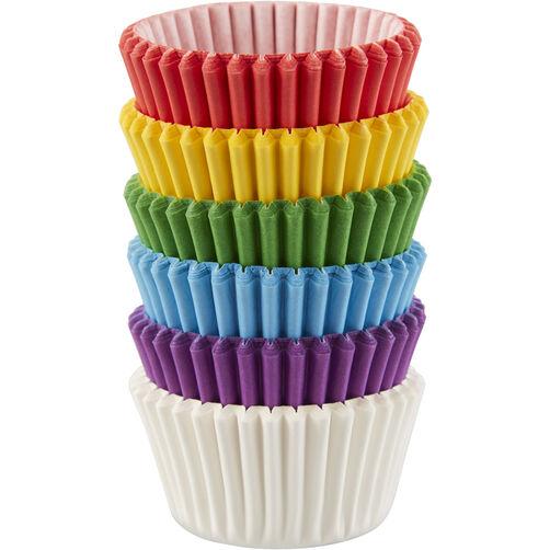 Rainbow Mini Cupcake Liners