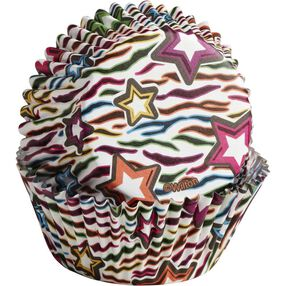 ColorCups Rainbow Zebra & Stars Cupcake Liners