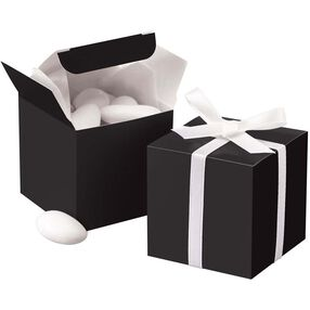 Black Square Box Favor Kit