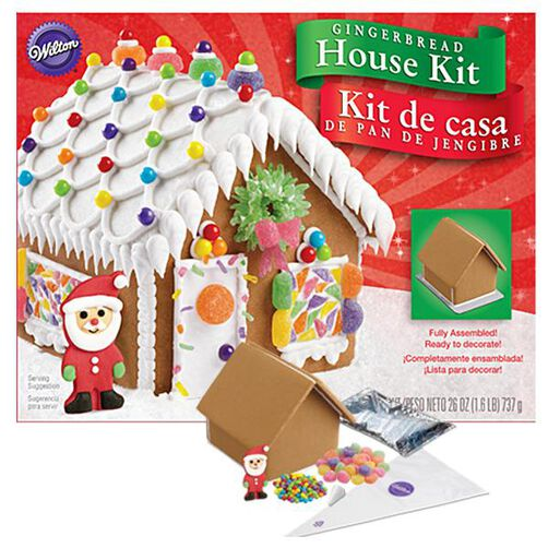 Pre-Assembled Petite Gingerbread House Kit