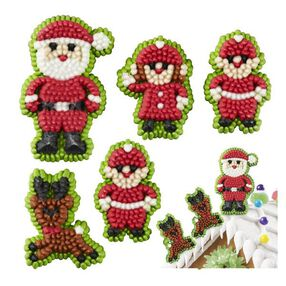 Wilton Christmas Santa and Elves Icing Decorations