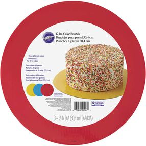 Red, Blue & Yellow Cake Board Set
