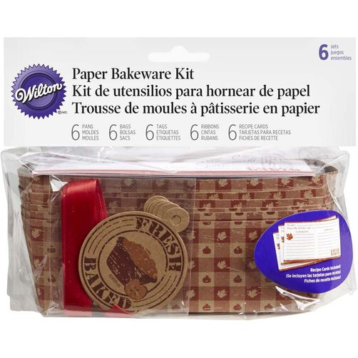 Autumn Fresh Baked Loaf Disposable Paper Bakerware Kit