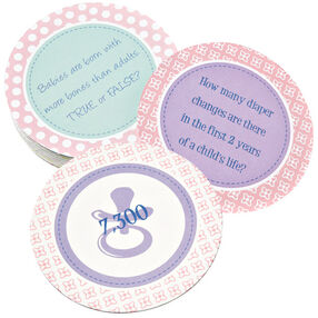Baby Shower Trivia Coasters