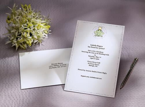 Frog Prince Wedding Shower Invitation Kit