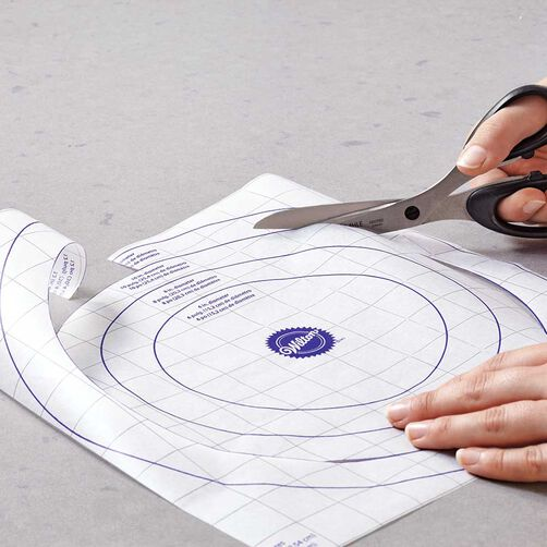 Printed Parchment Paper Guides for Cutting