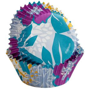 Wilton Colorful Flowers on Periwinkle ColorCups Standard-Sized Baking Cups, 36 Ct. 415-2290