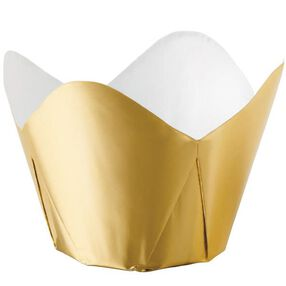 Gold Foil Pleated Baking Cups