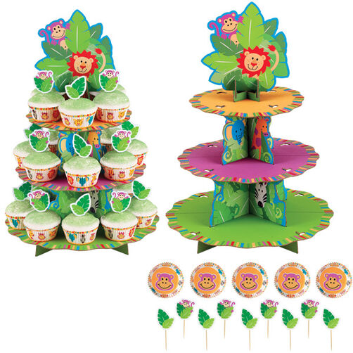 Jungle Pals Cupcake Stand Kit