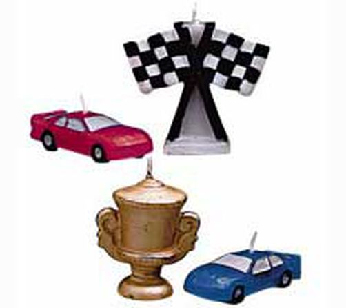 Race Cars 4-Piece Candle Set