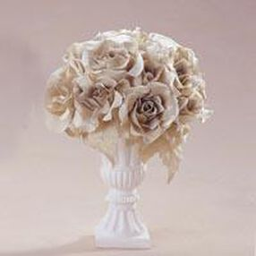 Gold Rose Topiary Arrangement