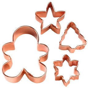 4-Pc. Copper Plated Cookie Cutter Gift Set