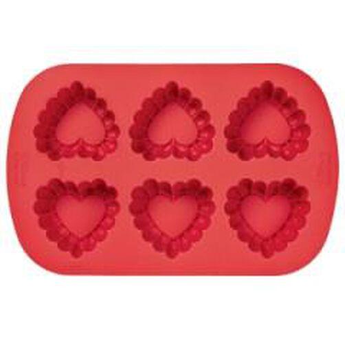 Silicone 6-Cavity Ruffled Heart Mold