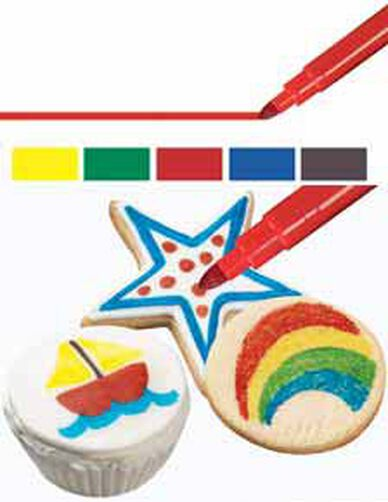 FoodWriter Fine Tip Primary Colors Edible Color Markers