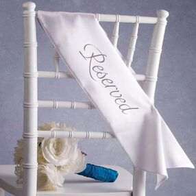 Reserved Chair Sashes