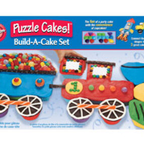 Transportation Puzzle Cakes! Silicone Build-A-Cake Set