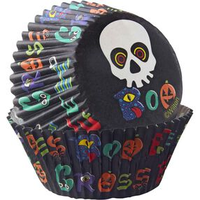 Wilton Halloween Skull Cupcake Liners