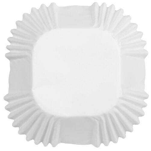 White Square Cup Standard Baking Cup