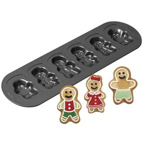 6-cavity Gingerbread Family Cookie Pan
