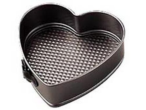 4 in. x 1 3/4 in. Excelle Elite Non-Stick Heart Springform Pan
