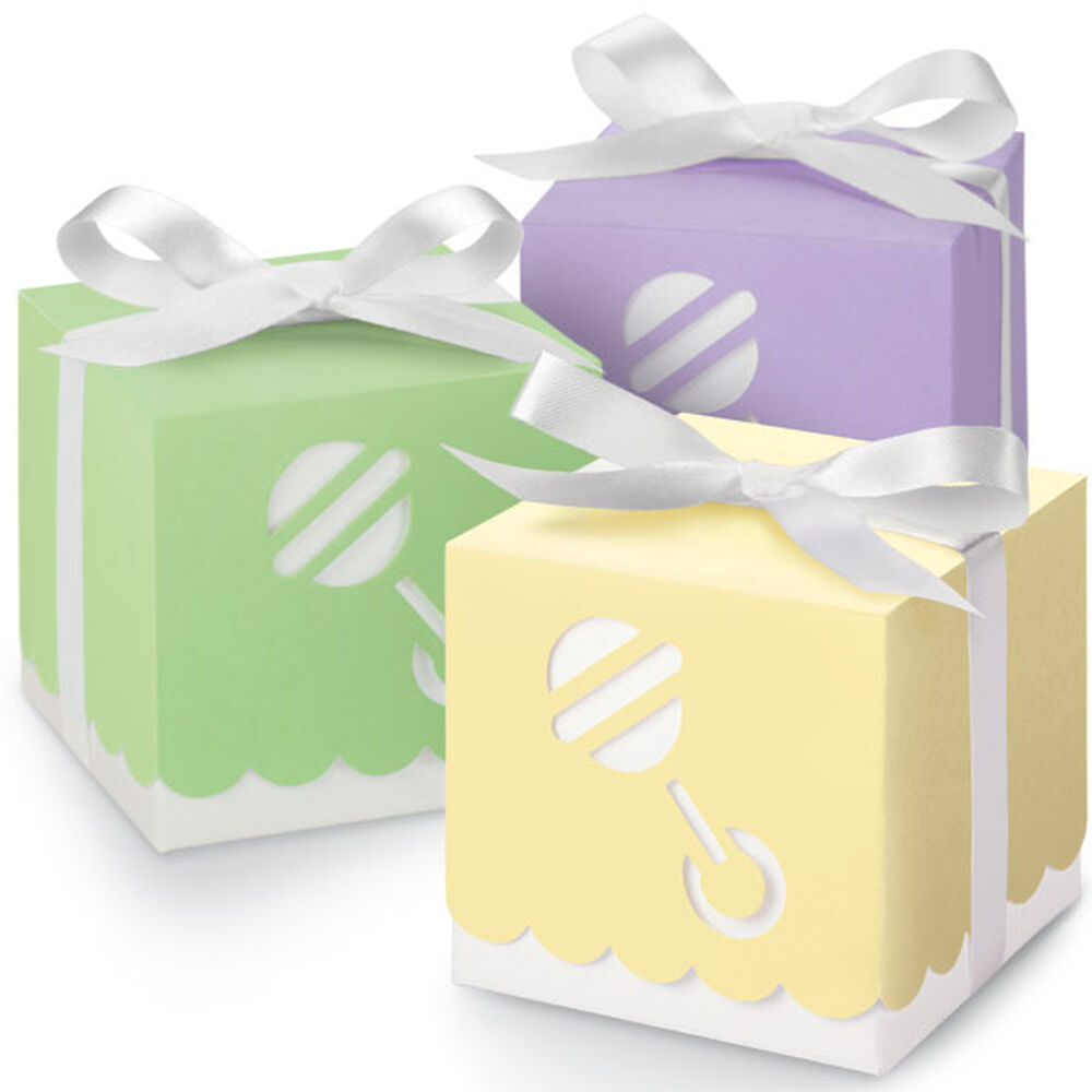 Assorted color rattle boxes wilton - Wilton baby shower favors ...