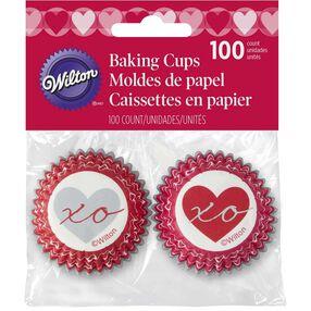 Heartfelt Valentine Mini Cupcake Liners