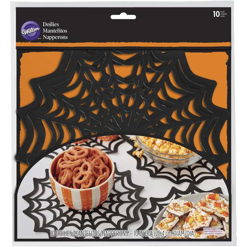 Wilton Halloween Spider Web Large Doilies