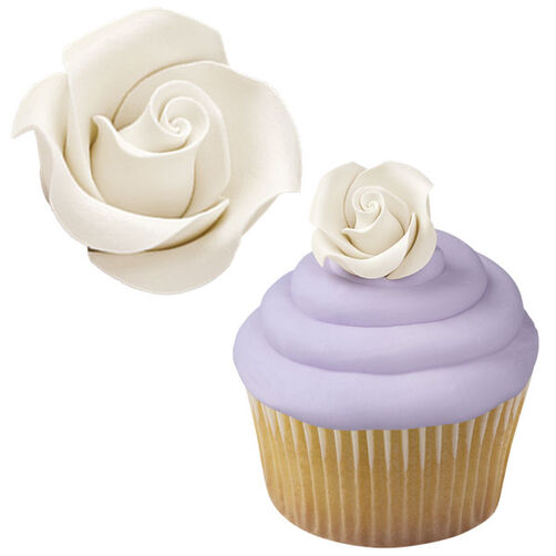 White Rose Icing Decoration