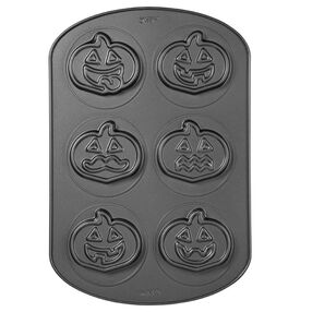 6-cavity Jack-O-Lantern Cookie Pan