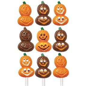 Smiling Pumpkins Lollipop Mold