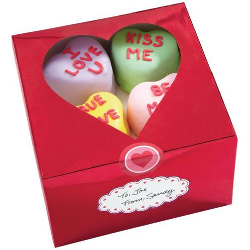 Red Metallic Valentine Treat Boxes