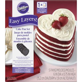 5 Layer Heart Cake Pan Set