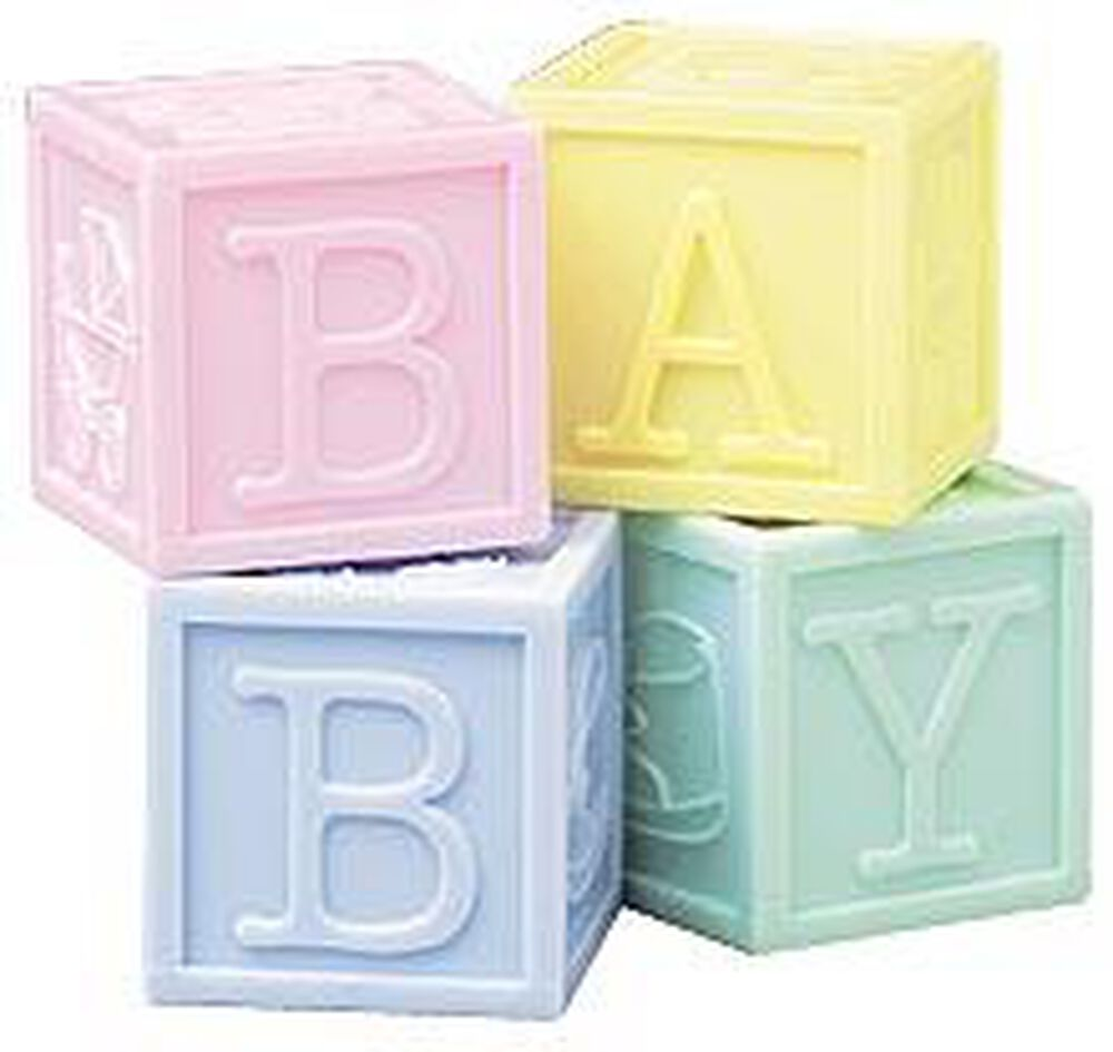 baby blocks set favor containers wilton