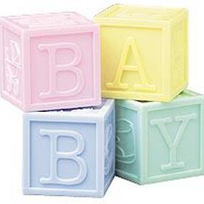 Baby Blocks Set Favor Containers