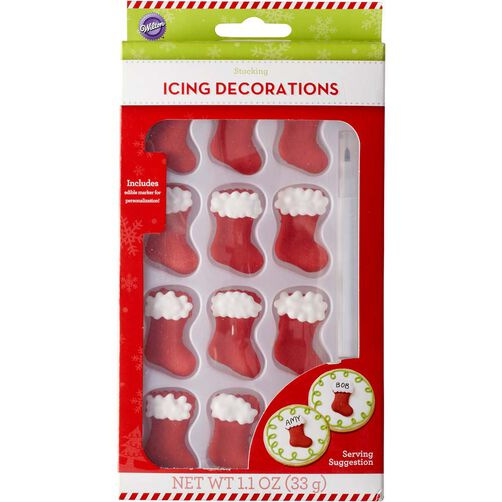 Stocking Icing Decorations with Edible Ink Marker