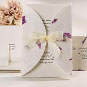 Pressed Floral Lavender Invitation Kit
