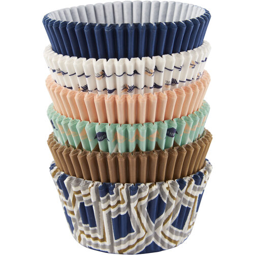 Blue & Gold Collection Cupcake Liners