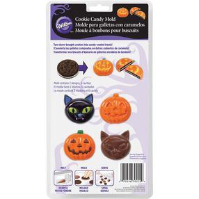 Wilton Halloween Cat & Pumpkin Cookie Candy Mold