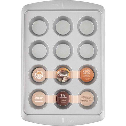 Avanti Everglide Metal-Safe Nonstick Muffin Pan, 12-Cavity