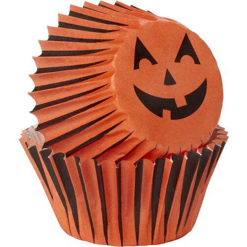 Halloween Jack-O-Lantern Mini Baking Cups