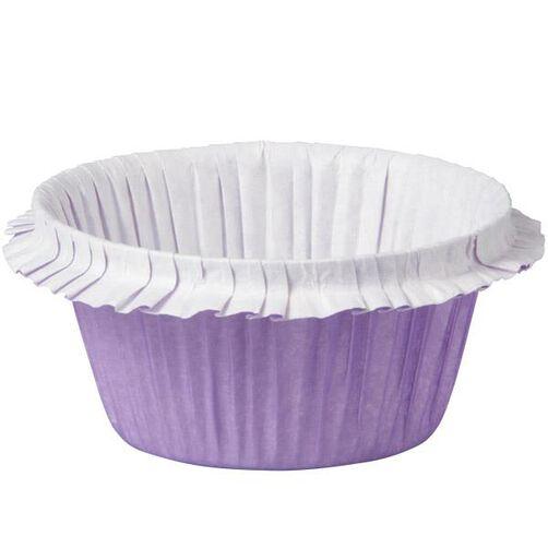Purple Double Ruffle Standard Baking Cup