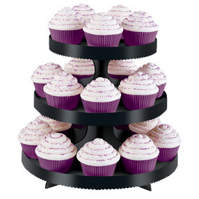 Black 3 Tier Treat Stand