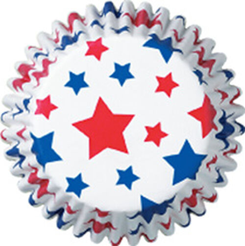 Patriotic Stars Baking Cups