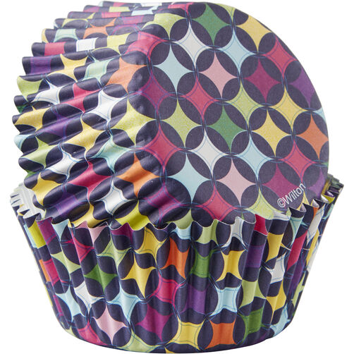 Diamond Pattern Cupcake Liners