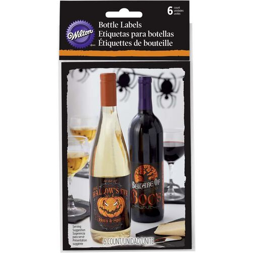 Wilton Halloween Bottle Labels