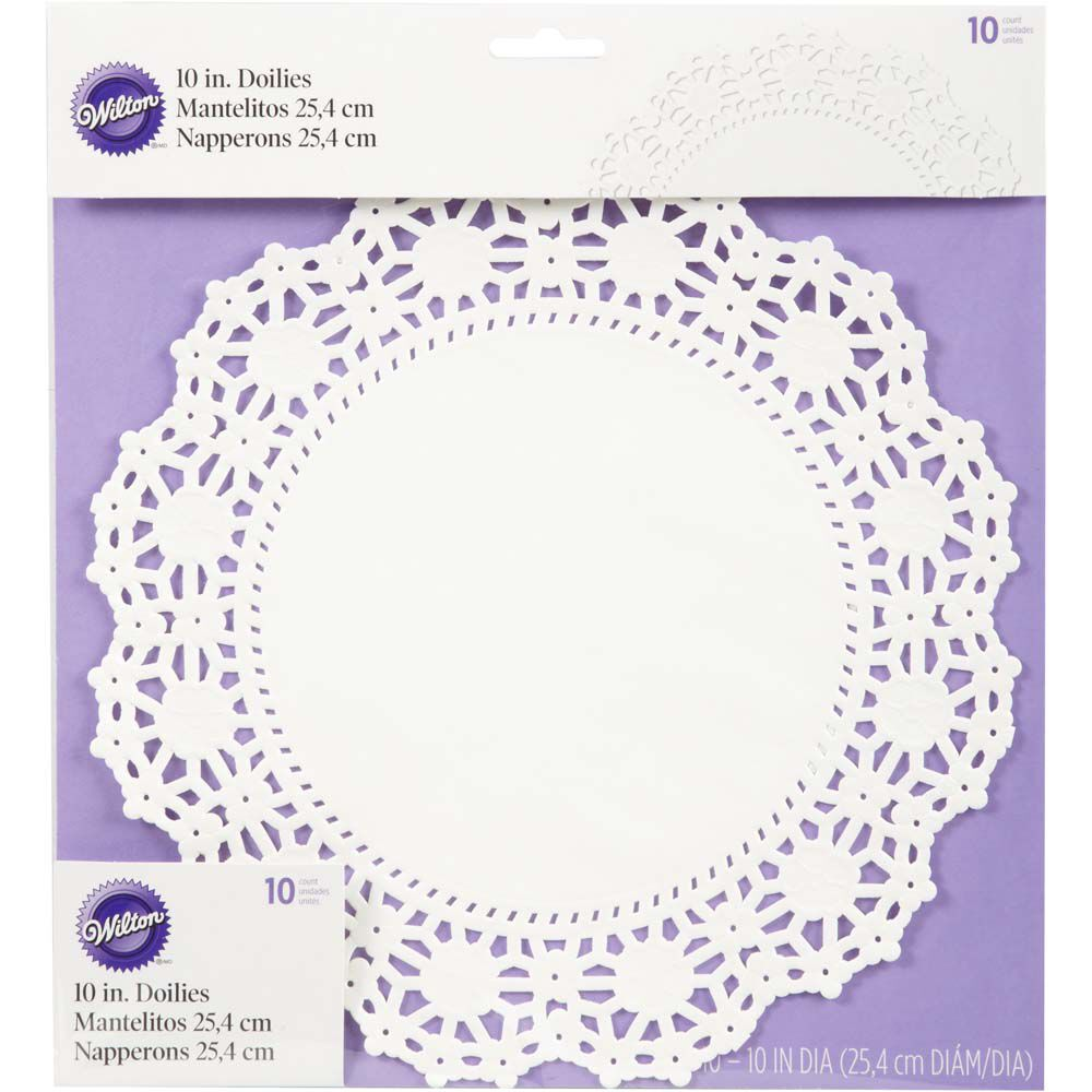 10 Quot Round Grease Proof White Doilies Wilton